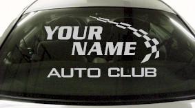 Custom793 Custom YOURNAMEHERE Auto Club Decal