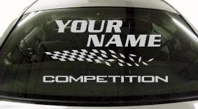 Custom816 Custom YOURNAMEHERE Competition Decal