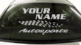 Custom817 Custom YOURNAMEHERE Autosports Decal