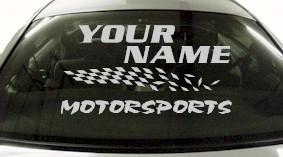 Custom821 Custom YOURNAMEHERE Motorsports Decal