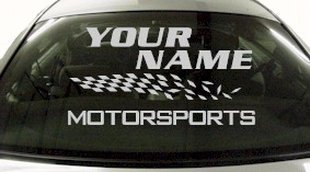 Custom822 Custom YOURNAMEHERE Motorsports Decal