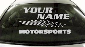 Custom823 Custom YOURNAMEHERE Motorsports Decal