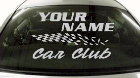 Custom834 Custom YOURNAMEHERE Car Club Decal