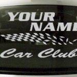 Custom835 Custom YOURNAMEHERE Car Club Decal