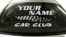 Custom836 Custom YOURNAMEHERE Car Club Decal