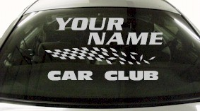 Custom838 Custom YOURNAMEHERE Car Club Decal