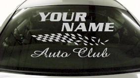 Custom842 Custom YOURNAMEHERE Auto Club Decal