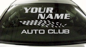 Custom843 Custom YOURNAMEHERE Auto Club Decal