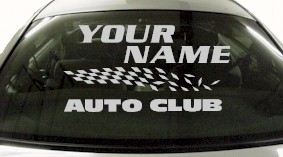 Custom844 Custom YOURNAMEHERE Auto Club Decal