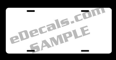 SUP104 Blank Auto Tag License Plate