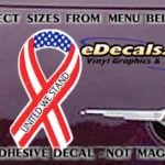 PAT106 United We Stand American Patriotic Ribbon Decal